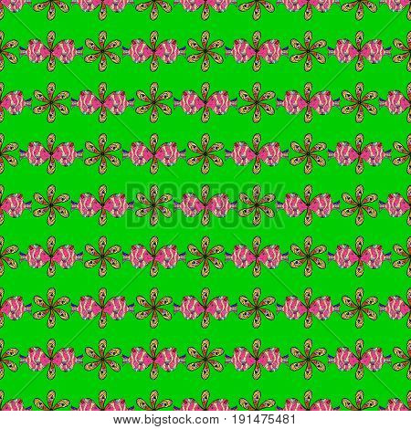 Vector flower concept. Seamless floral pattern can be used for sketch website background wrapping paper. Summer design. Leaf natural pattern in colors.