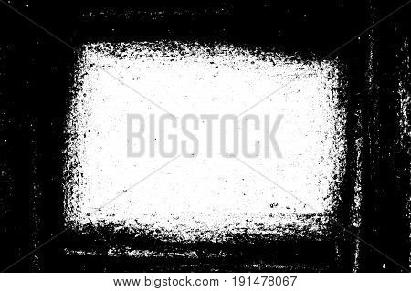 art grunge black ragged abstract frame illustration background