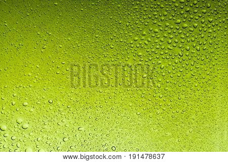 Olive drab water drops abstract background texture