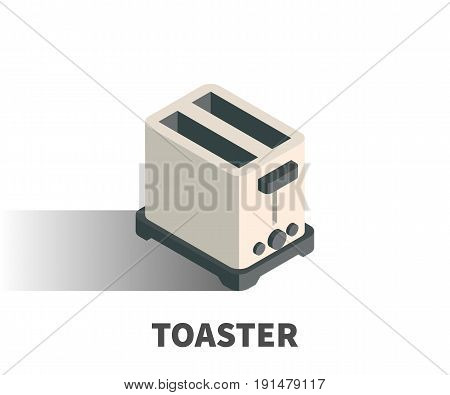 Toaster Icon, Vector Symbol In Isometric 3D Style Isolated On White Background.