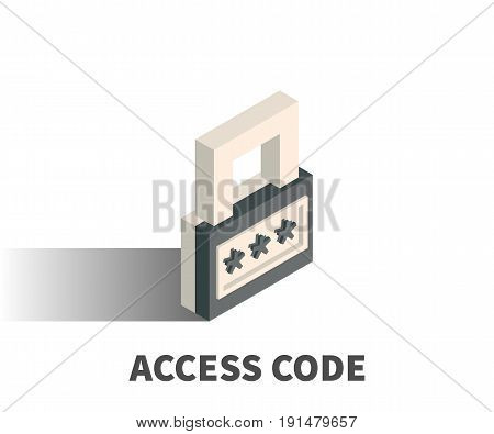 Access code icon vector symbol in isometric 3D style isolated on white background.