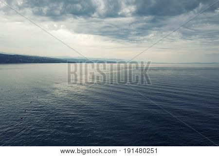 Dramatic Stormy Mediterranean Sea, Croatia