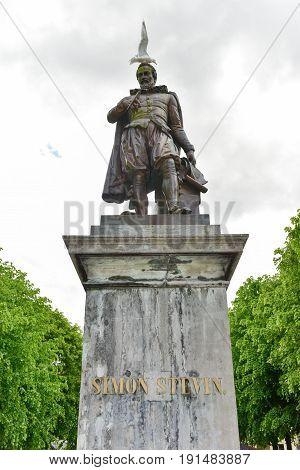 Simon Stevin Monument - Bruges, Belgium