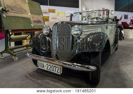 STUTTGART GERMANY - MARCH 02 2017: Sports car BMW 319 Sportcabriolet 1936. Europe's greatest classic car exhibition