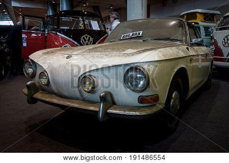 STUTTGART GERMANY - MARCH 02 2017: Sports car Volkswagen Karmann Ghia Typ 34. Europe's greatest classic car exhibition
