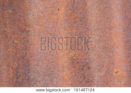 Grunge Rusty galvanized iron plate or zinc, texture background.