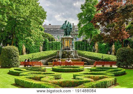 Petit Sablon Park - Brussels, Belgium