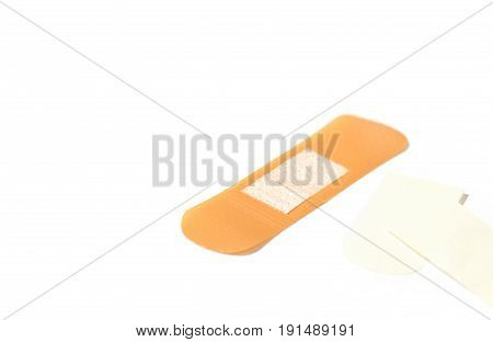 Protective Plaster On White Background