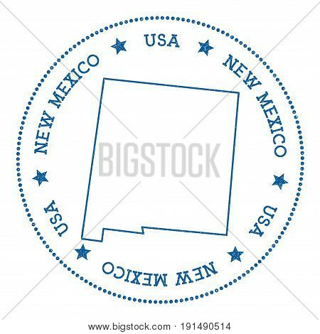 New Mexico Vector Map Sticker. Hipster And Retro Style Badge With New Mexico Map. Minimalistic Insig