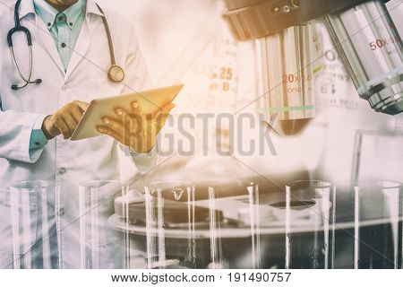 Medical Science Research Concept.
