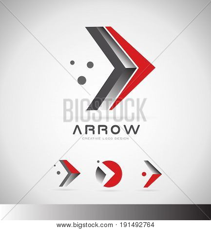 Arrow Forward Concept Logo Icon Design