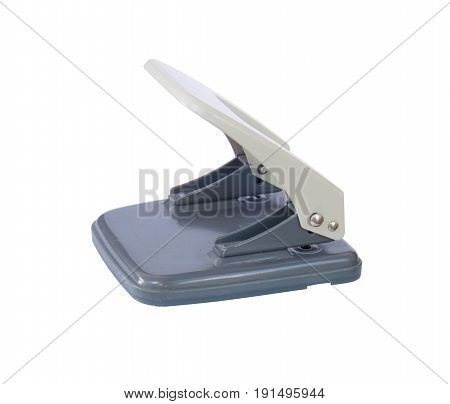 paper hole puncher isolated on white background
