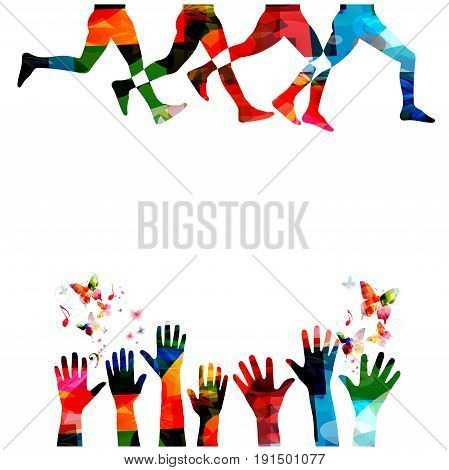 Running background with people silhouettes isolated. Sports, fitness, running, jogging, active people, training, recreational activity, people exercise