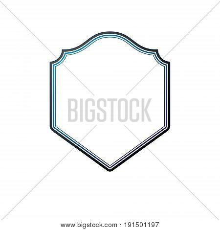 Victorian art vector frame with blank copy space vintage heraldic design. Heraldic template illustration mirror border decorative protection shield.