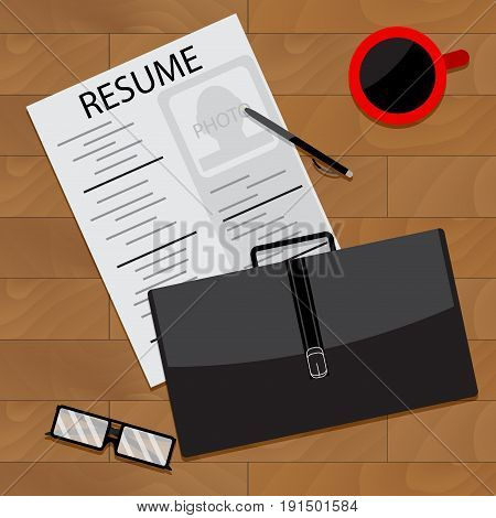 Prepare for interview. Vector interview preparation illustration of research interview