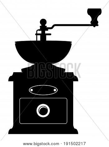 coffee mill old retro vintage icon stock vector illustration isolated on white background