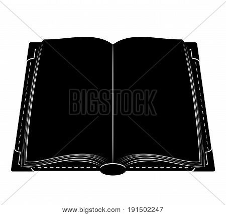 book old retro vintage icon stock vector illustration isolated on white background