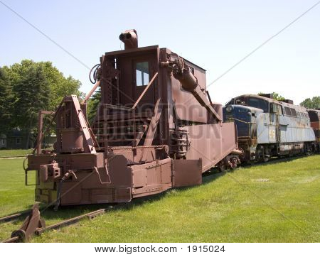 Vintage Railroad Construction Car