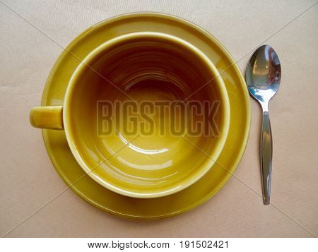 Cup and saucer ceramic for drink and beverage