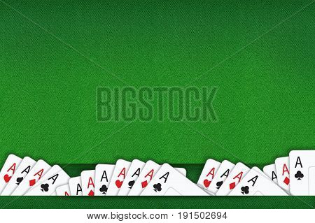 Blackjack and Poker Game Background Concept Illustration.