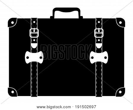 suitcase old retro vintage icon stock vector illustration isolated on white background