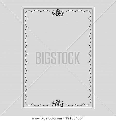 vector image dark ilustration decorative ornamental frame