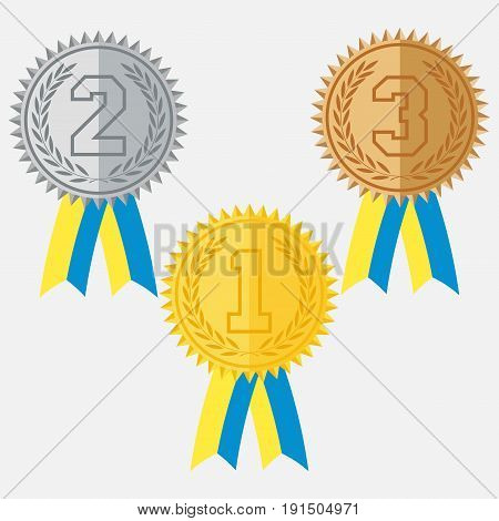 icon medal vinner prize first place the icon Primo winnerflat design vector image