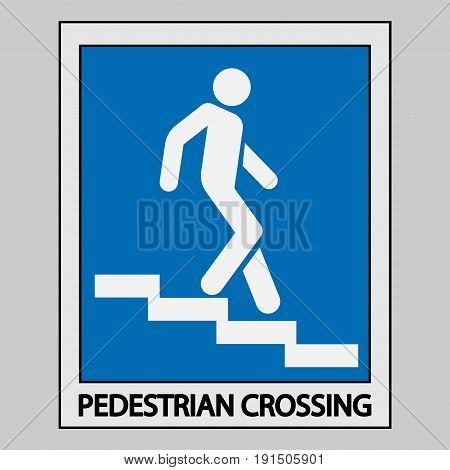 icon descent down the stairs signpost fully editable vector image