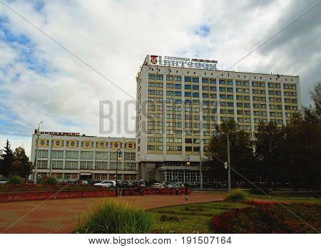 Millennium Square of Vitebsk, Belarus. Hotel complex