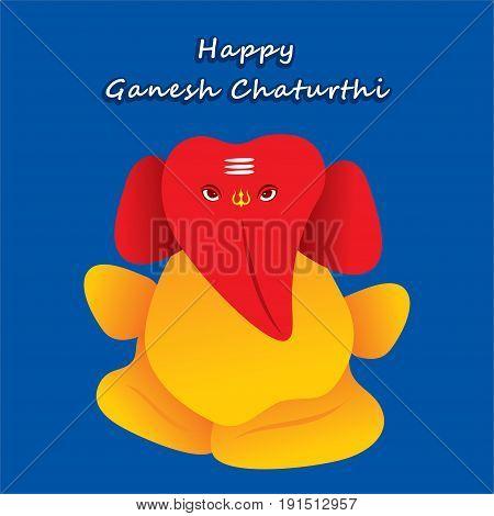 creative happy ganesh chaturthi festival poster design