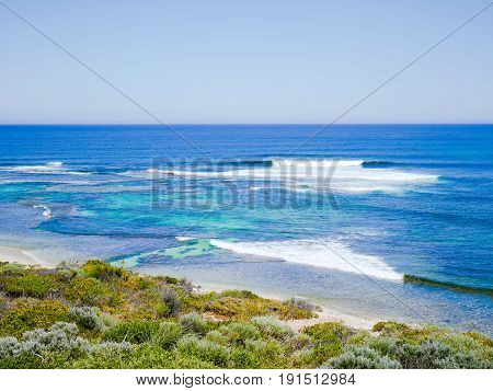 View of Surfers Point in Margaret River, Western Australia