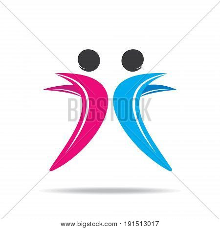 creative friends logo or friendship icon design