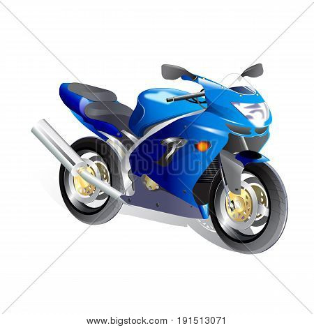 illustration of sportbike isolate on white background