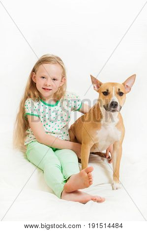 The Little Girl And Dog