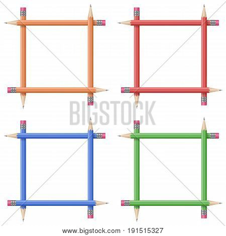 Frames Of Colorful Pencils