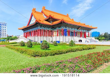 National Concert Hall at Liberty Square in Taiwan It is a public plaza for gatherings in the Zhongzheng District of Taipei. poster
