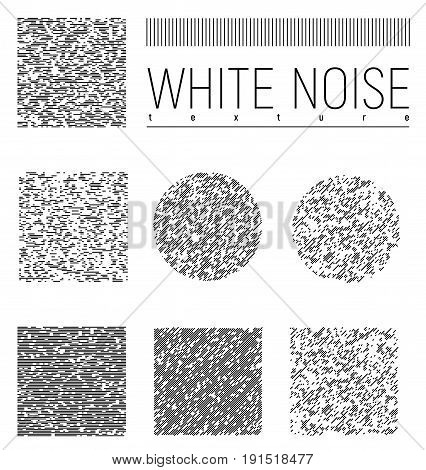 White Noise Interference Textures Set