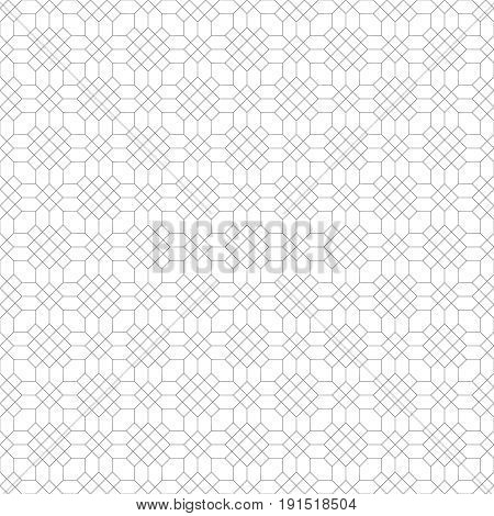 Seamless pattern. Abstract geometrical background. Modern stylish texture. Regularly repeating simple elegant ornament with hexagons hexagonal shapes rhombuses. Minimal trendy design
