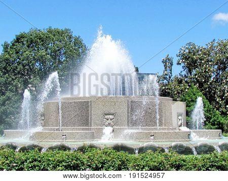 The Senate Garage Fountain in Lower Senate Park Washington DC