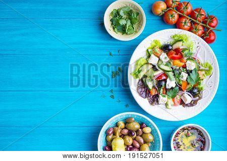 Greek Salad Background