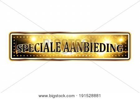 Special aanbieding - Special offer -  Dutch shiny business icon