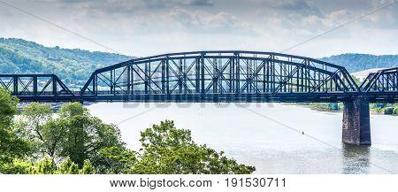 Hot Metal Bridge Across Monongehlia River Pittsburgh Pa
