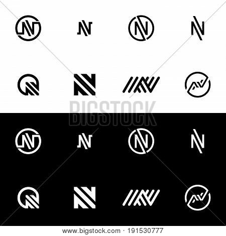 Letter N Logo Icon. Alphabet Logo Design Abstract