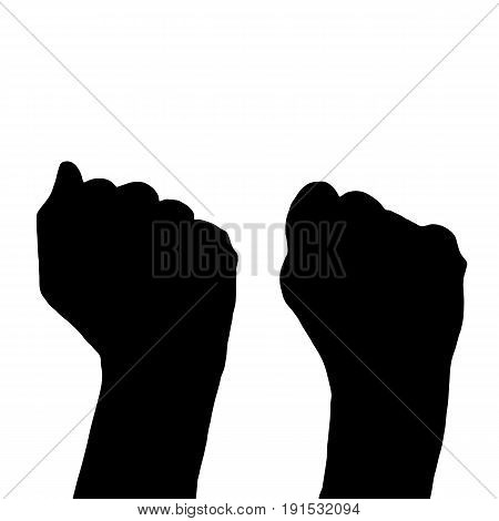 The Concept Of Political Struggle. Hands