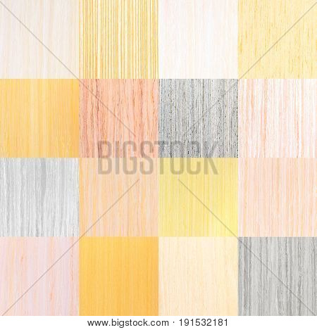 Setting Of Light Natural Wooden Texture, Tree Veneer Background