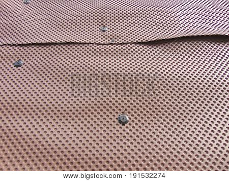 Brown platon waterproofing plastic membrane at construction