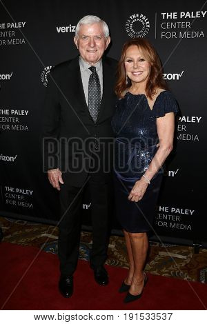 NEW YORK - MAY 17: Phil Donahue (L) and Marlo Thomas attend The Paley Honors: Celebrating Women in Television at Cipriani Wall Street on May 17, 2017 in New York City.