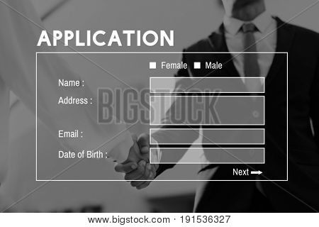 Application Form Personal Information Concept