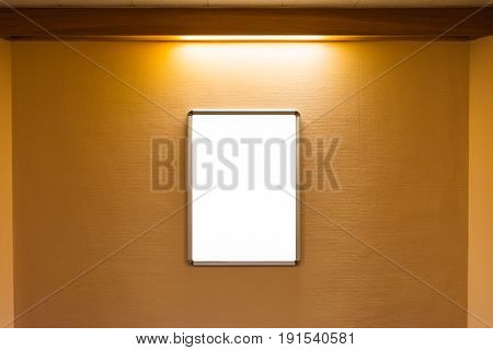 Corridor Hallway White Blank Isolated Advertisement Media Light