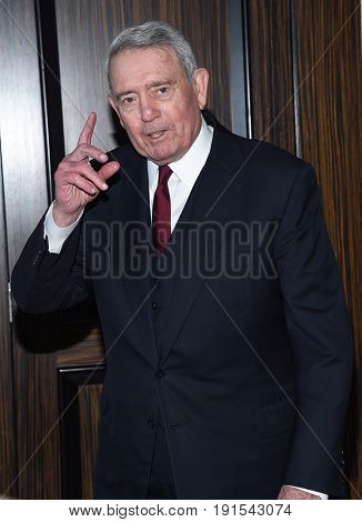 LOS ANGELES - JUN 13:  Dan Rather arrives for the Lucy Crystal Awards 2017 on June 13, 2017 in Beverly Hills, CA